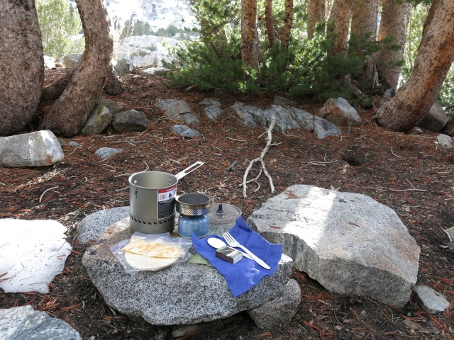 Backcountry Kitchen, Long Lake, Sierra Nevada