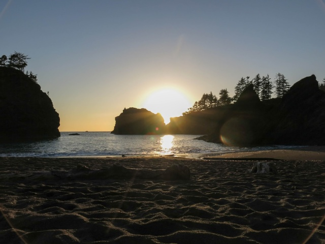 Secret Beach at Sunset, Brookings, OR