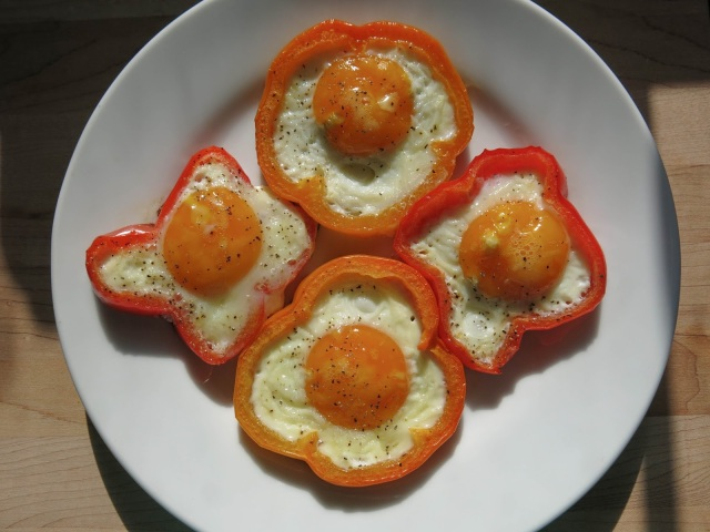 Egg and Veggie Flowers