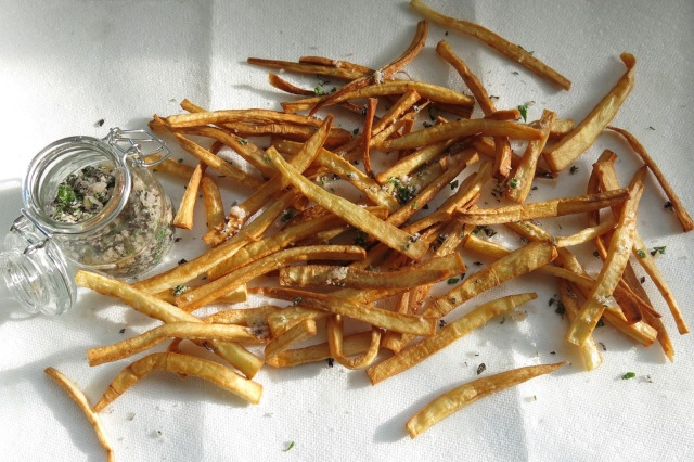 Parsnip Fries with Herbed Garlic Salt