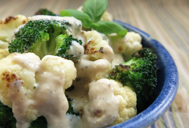 Saucy Broccoli-Cauliflower Bowl