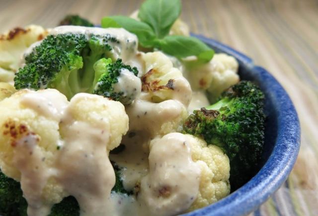 Saucy Broccoli-Cauliflower Bowl