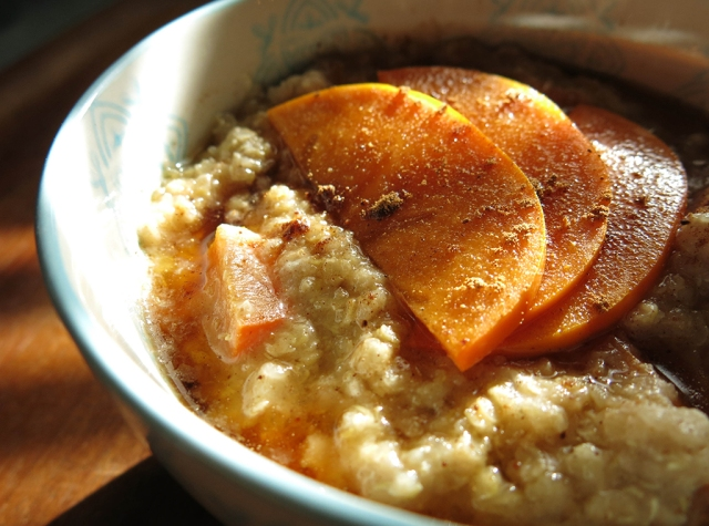 Spiced Persimmon Quinoa Porridge