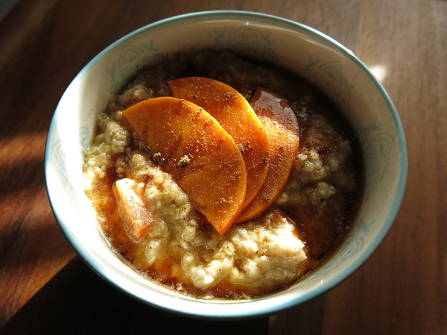 Spiced Persimmon Quinoa Porridge 2