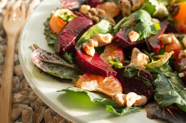 Roasted Beet and Mandarin Orange Salad
