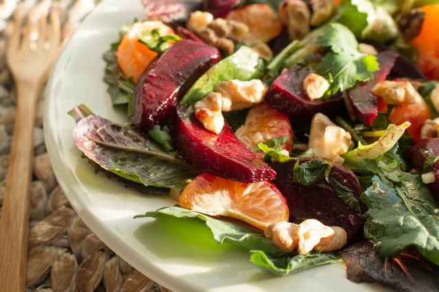 Roasted Beet and Mandarin Orange Salad