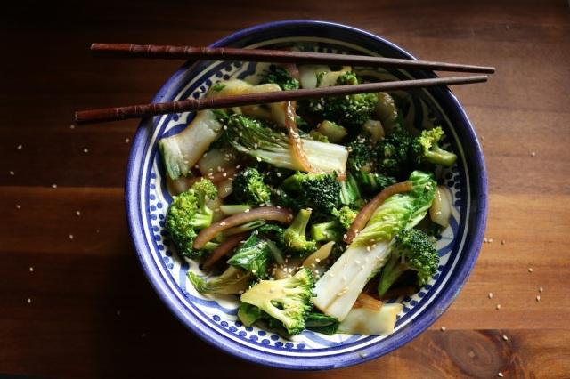 Broccoli and Bok Choy