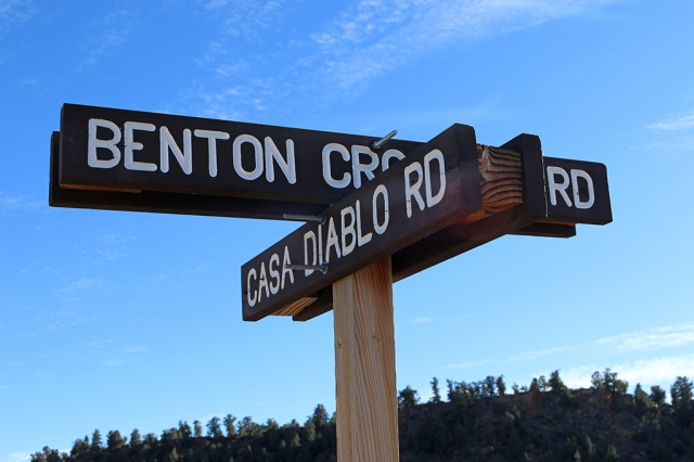 Casa Diablo Road Sign